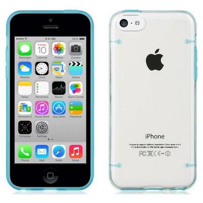 Microsonic Hybrid Transparant Iphone 6 4.7'' Kılıf Mavi Cep Telefonu Kılıfı
