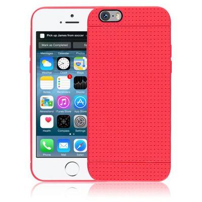 Microsonic Dot Style Silikon Iphone 6 4.7'' Kılıf Kırmızı Cep Telefonu Kılıfı