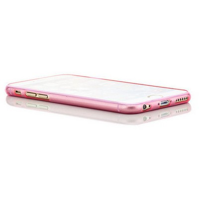 Microsonic Slim Transparent Soft Iphone 6 (4.7'') Kılıf Pembe Cep Telefonu Kılıfı