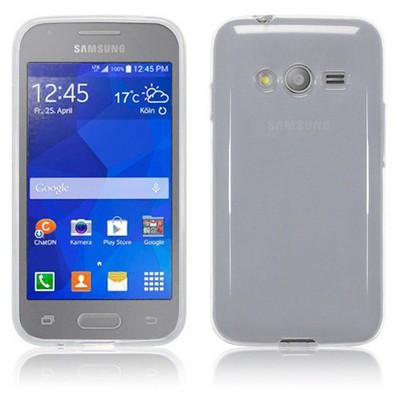 Microsonic Transparent Soft Samsung Galaxy Ace 4 Kılıf Beyaz Cep Telefonu Kılıfı