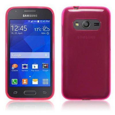 Microsonic Transparent Soft Samsung Galaxy Ace 4 Kılıf Pembe Cep Telefonu Kılıfı