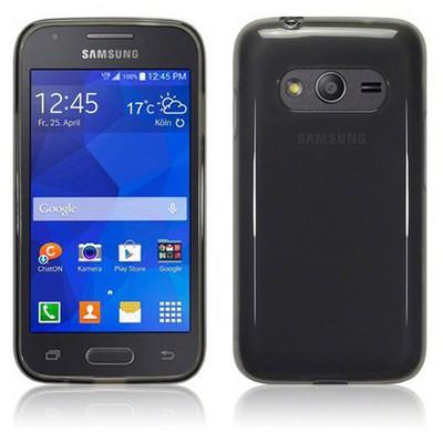 Microsonic Transparent Soft Samsung Galaxy Ace 4 Kılıf Siyah Cep Telefonu Kılıfı