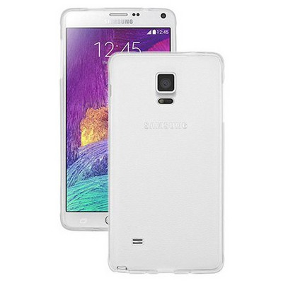 Microsonic Transparent Soft Samsung Galaxy Note 4 Kılıf Beyaz Cep Telefonu Kılıfı