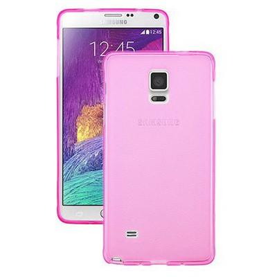 Microsonic Transparent Soft Samsung Galaxy Note 4 Kılıf Pembe Cep Telefonu Kılıfı