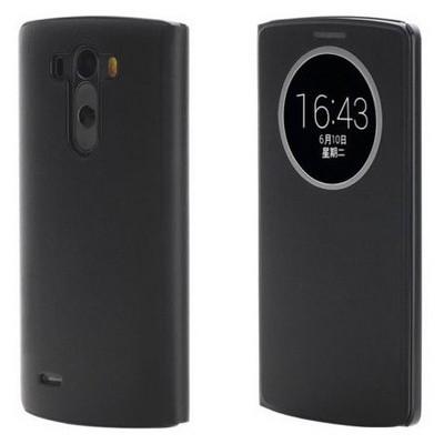 Microsonic View Cover Delux Kapaklı Lg G3 S (g3 Mini, Beat) Kılıf Akıllı Uyku Modlu Siyah Cep Telefonu Kılıfı