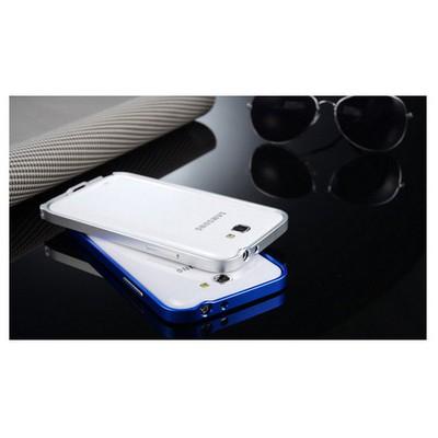 Microsonic Samsung Galaxy Note 2 Ultra Thin Metal Bumper Kılıf Gümüş Cep Telefonu Kılıfı