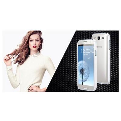 Microsonic Samsung Galaxy S3 Ultra Thin Metal Bumper Kılıf Gümüş Cep Telefonu Kılıfı