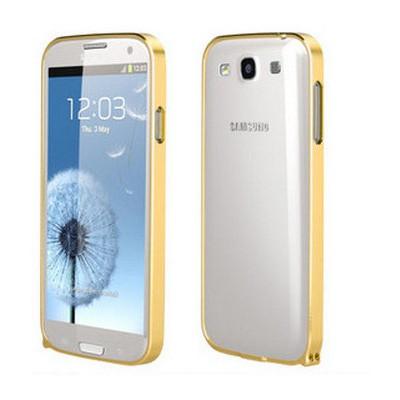 Microsonic Samsung Galaxy S3 Ultra Thin Metal Bumper Kılıf Sarı Cep Telefonu Kılıfı
