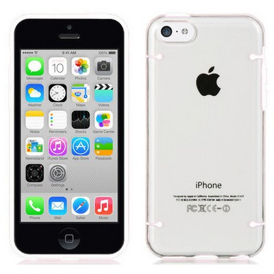 Microsonic Hybrid Transparant Iphone 6 Plus 5.5'' Kılıf Beyaz Cep Telefonu Kılıfı