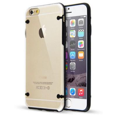 Microsonic Hybrid Transparant Iphone 6 Plus 5.5'' Kılıf Siyah Cep Telefonu Kılıfı