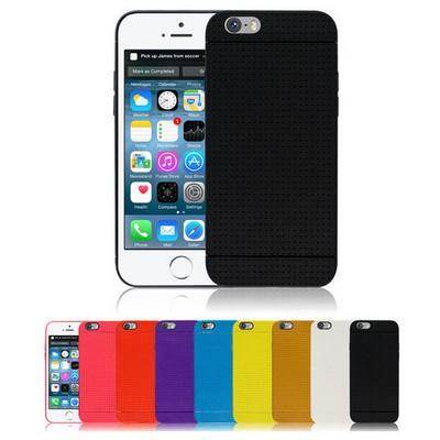 Microsonic Dot Style Silikon Iphone 6 Plus 5.5'' Kılıf Beyaz Cep Telefonu Kılıfı