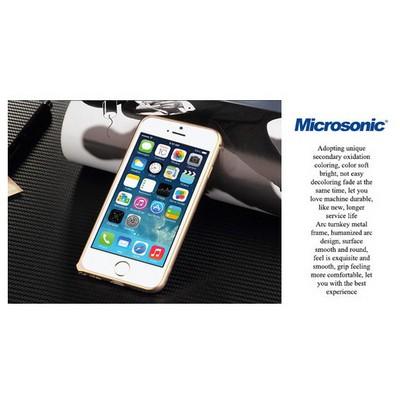 Microsonic Iphone 6 (4.7'') Ultra Thin Metal Bumper Kılıf Black & Gold Cep Telefonu Kılıfı