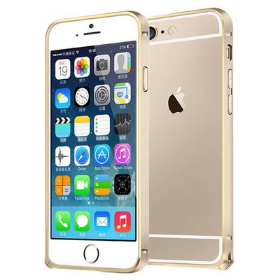 Microsonic Iphone 6 (4.7'') Ultra Thin Metal Bumper Kılıf Gold & Gold Cep Telefonu Kılıfı