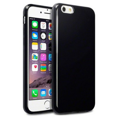 Microsonic Glossy Soft Iphone 6 (4.7'') Kılıf Siyah Cep Telefonu Kılıfı