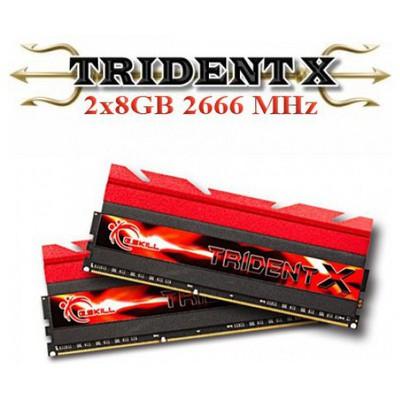 G.Skill Trident X + Fan Ddr3-2666mhz Cl12 16gb (2x8gb) Dual (112-13-13-35) 1.65v RAM
