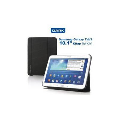 """Dark Dk-ac-smkas102t3 Galaxy Tab3 P5200 10.1"""" Uyumlu Siyah Tablet Kılıfı / Stant Book Cover Araç Aksesuarları"""