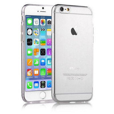 Microsonic Slim Transparent Soft Iphone 6 Plus (5.5'') Kılıf Beyaz Cep Telefonu Kılıfı