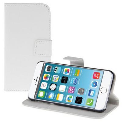 Microsonic Cüzdanlı Standlı Deri Iphone 6 Plus (5.5'') Beyaz Cep Telefonu Kılıfı