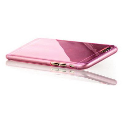 Microsonic Slim Transparent Soft Iphone 6 Plus (5.5'') Kılıf Pembe Cep Telefonu Kılıfı