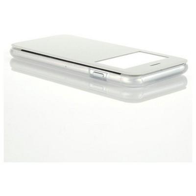 Microsonic View Cover Delux Kapaklı Iphone 6 (4.7'') Kılıf Beyaz Cep Telefonu Kılıfı