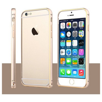 Microsonic Iphone 6 Plus (5.5'') Ultra Thin Metal Bumper Kılıf Gold & Gold Cep Telefonu Kılıfı