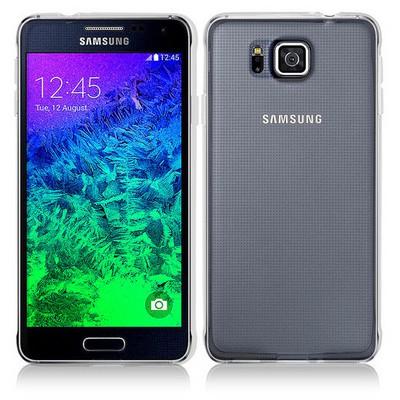 Microsonic Clear Soft Şeffaf Samsung Galaxy Alpha Kılıf Cep Telefonu Kılıfı