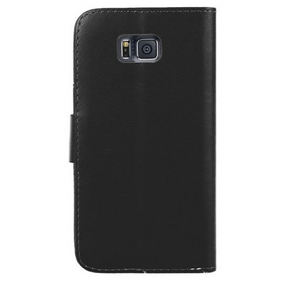 Microsonic Cüzdanlı Deri Samsung Galaxy Alpha Kılıf Siyah Cep Telefonu Kılıfı