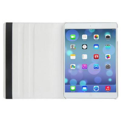 Microsonic 360 Rotating Stand Deri Ipad Air 2 Kılıf Beyaz Tablet Kılıfı