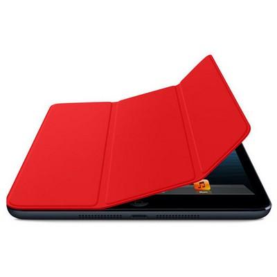 Microsonic Ipad Mini 3 Smart Case + Arka Koruma 2in1 Kılıf Kırmızı Tablet Kılıfı