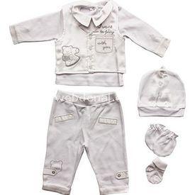 Baby Trent 1924 Mevlüt Takımı Beyaz 3-6 Ay (62-68 Cm) Erkek Bebek Hastane Çıkışı