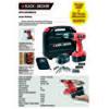 Black & Decker EPC12CABK50 Şarjlı matkap, 12V/1.2Ah - Çift Akülü Akülü Vidalama