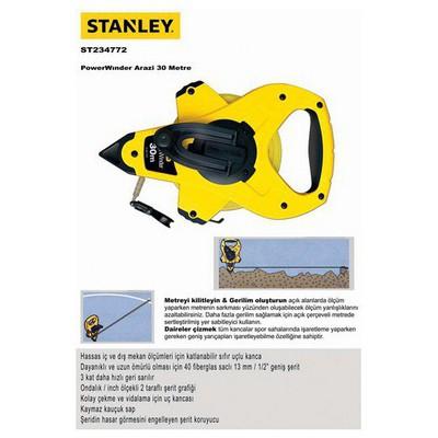 Stanley St234772 Arazi Metresi, 30mx12.7mm Şerit Metre