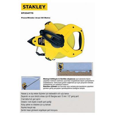 Stanley St234775 Arazi Metresi, 60mx12.7mm Şerit Metre