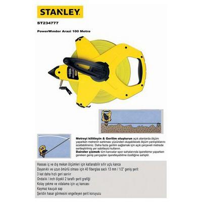 Stanley ST234777 Arazi Metresi, 100mX12.7mm Şerit Metre
