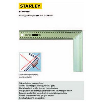 Stanley St145685 Marangoz Gönyesi, 250mmx140mm Hırdavat Ürünü