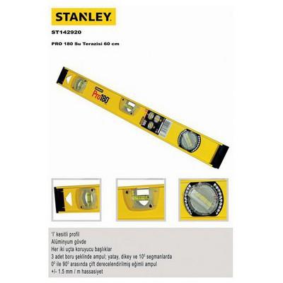 Stanley St142920 Su Terazisi, 60cm Açı Ölçer & Su Terazisi