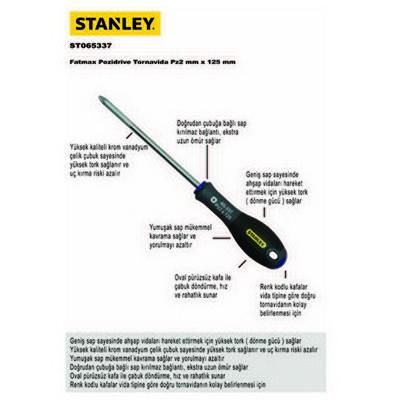 Stanley ST065337 Yıldız  Pz2X125mm Tornavida