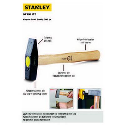Stanley ST151173 Ahşap Saplı Çekiç 300gr Çekiç / Keser / Balyoz