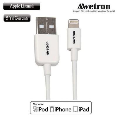 Inova Awe-101 Awetron Orjinal Apple Lisanslı Iphone 5/6/6s -ipad 1m Şarj-data Kablosu USB Kablolar