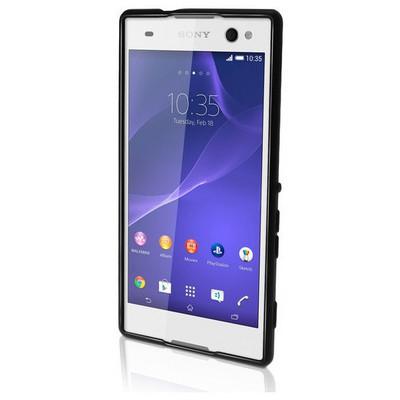 Microsonic Glossy Soft Sony Xperia C3 Kılıf Siyah Cep Telefonu Kılıfı
