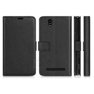 Microsonic Cüzdanlı Deri Sony Xperia C3 Kılıf Siyah Cep Telefonu Kılıfı