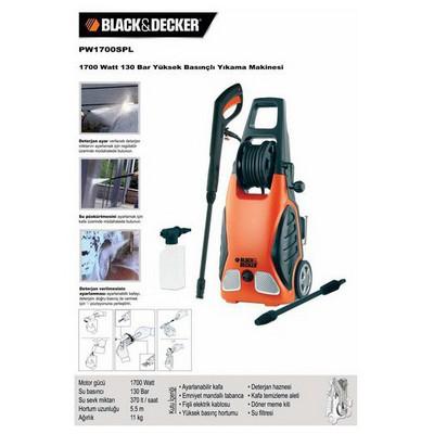 Black & Decker Pw1700spl 1700watt 130bar Basınçlı Yıkama