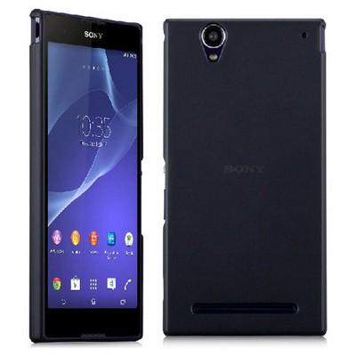 Microsonic Ultra Thin 0.2mm Kılıf Sony Xperia T2 Ultra Siyah Cep Telefonu Kılıfı