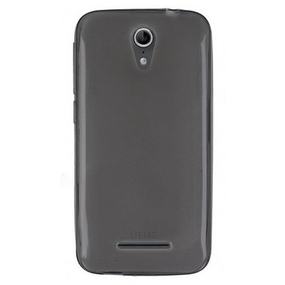 Microsonic Transparent Soft Vodafone Smart 4 Power Kılıf Siyah Cep Telefonu Kılıfı