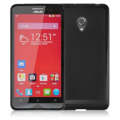 Microsonic Glossy Soft Asus Zenfone 6 Kılıf Siyah Cep Telefonu Kılıfı