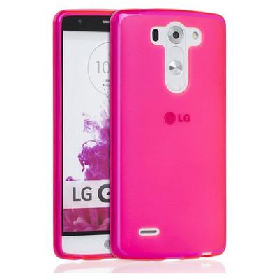 Microsonic Transparent Soft Lg G3 S (g3 Mini, G3 Beat) Kılıf Pembe Cep Telefonu Kılıfı