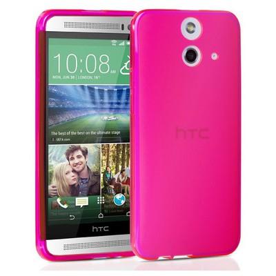 Microsonic Transparent Soft Htc One E8 Kılıf Pembe Cep Telefonu Kılıfı