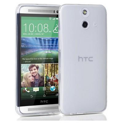 Microsonic Transparent Soft Htc One E8 Kılıf Beyaz Cep Telefonu Kılıfı