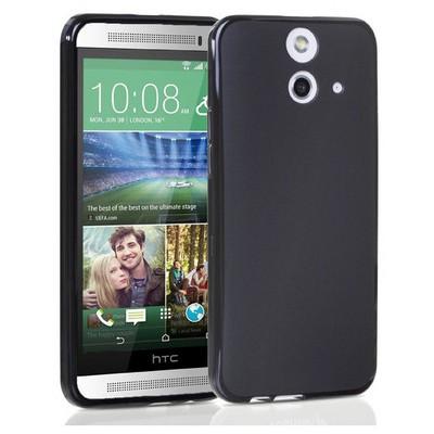 Microsonic Transparent Soft Htc One E8 Kılıf Siyah Cep Telefonu Kılıfı