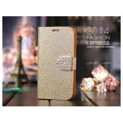 Microsonic Pearl Simli Taşlı Deri Iphone 6 Plus (5.5) Kılıf Sarı Cep Telefonu Kılıfı